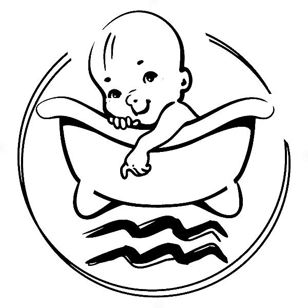 Adesivo - Aquário Aquarius Signos Do Zodíaco Signs baby Bebê