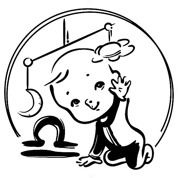 Adesivo - Libra Signos Do Zodíaco Signs Baby Bebê