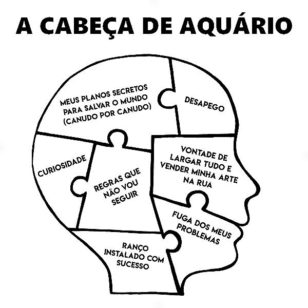 Adesivo - A cabeça de Aquário Aquarium Signos Do Zodíaco Signs