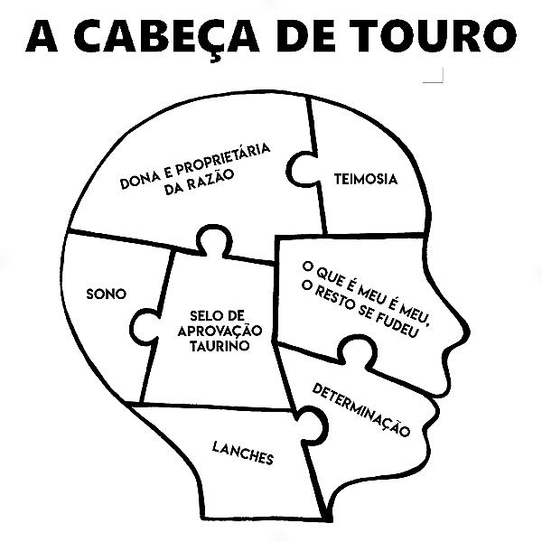 Adesivo - A cabeça de Touro Taurus Signos Do Zodíaco Signs