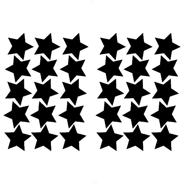 Adesivo - Cartela de Estrelas Stars