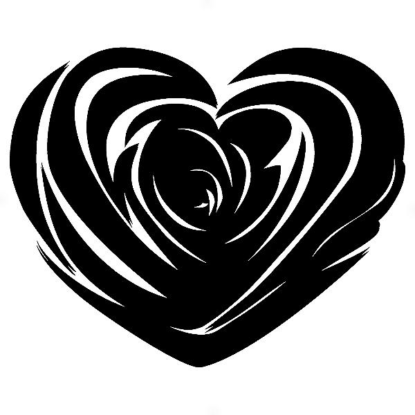 Adesivo - Coração Heart Flor Flower Desenh