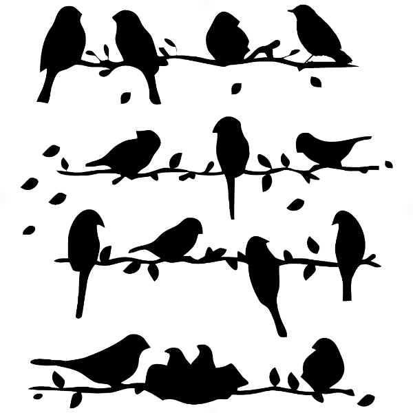 Adesivo - Cartela Birds Pássaros