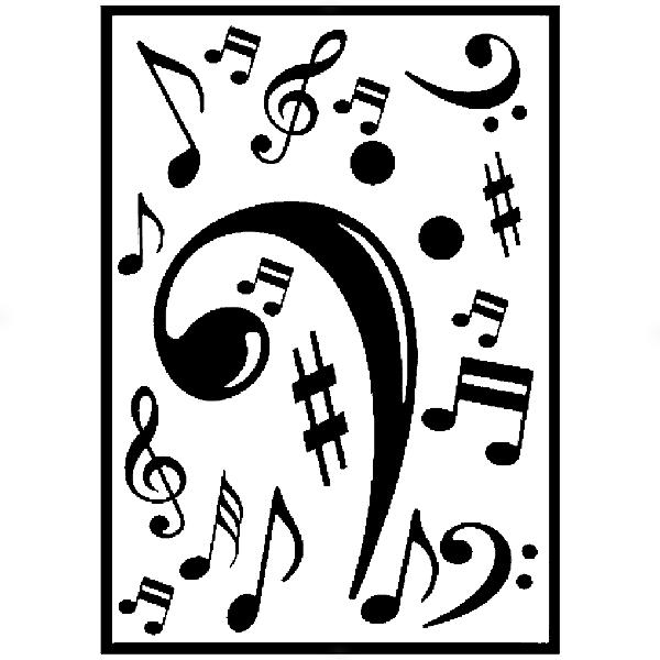 Adesivo - Cartela Música Music Notas Claves Chords Notes