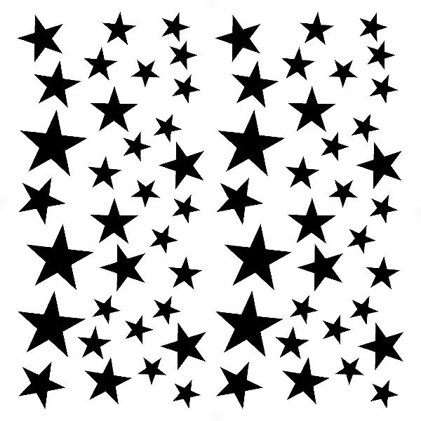 Adesivo - Cartela Stars Estrelas