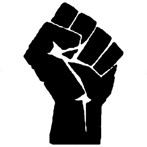 Adesivo - Sign Sinal Luta Resistência Movimento Fight Resistance Moviment Fist Hand Mão