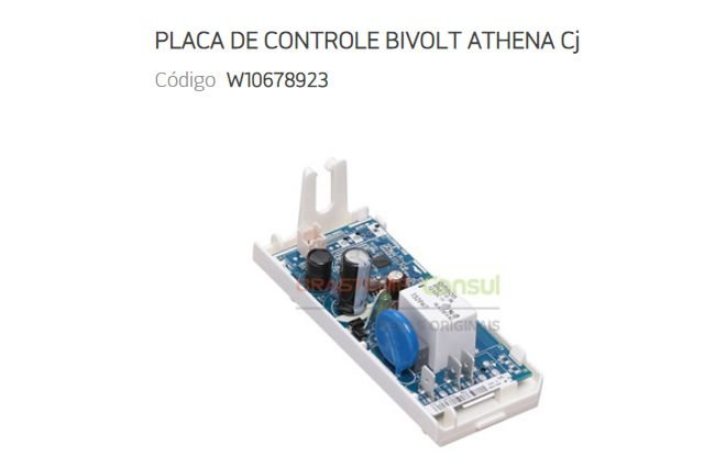 Placa Controle Eletrônico Original Brastemp Consul W10678923