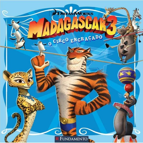 Livro Madagascar 3 - O Circo Engraçado (DreamWorks)