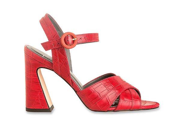Sandália Croco Vermelha