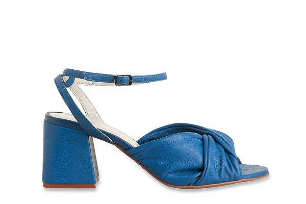 Sandália Entrelaçada Azul