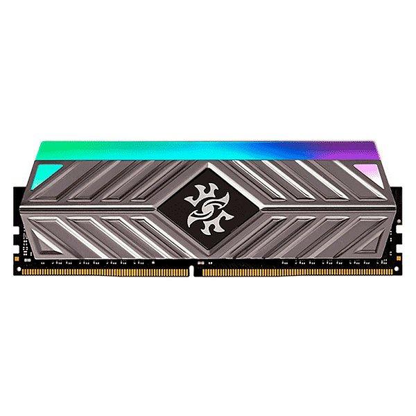 Memória 8GB DDR4 3000MHz XPG Spectrix D41 RGB - CL16 - Cinza - AX4U300038G16A-ST41