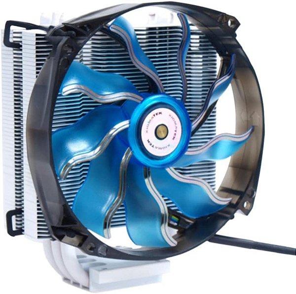 Air Cooler Xigmatek Dark Knight II Branco Fan Azul 14CM Dissipador de Aluminio Pipe de Cobre EN6619 - NÃO SERVE EM AM4