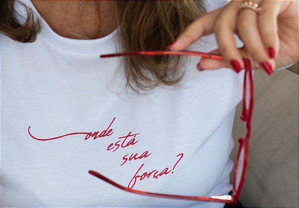 Camiseta Força Central Branca