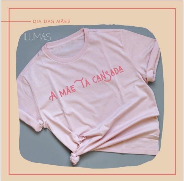 Camiseta Cansada rosa
