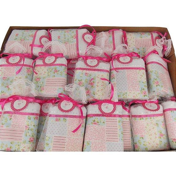 Lembrancinha Maternidade Toalhinha com Barra de Tecido Personalizada