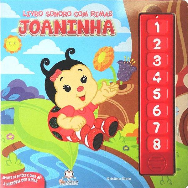 Livro Infantil Sonoro com Rimas Joaninha