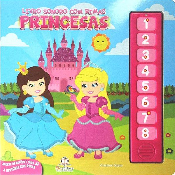 Livro Infantil Sonoro com Rimas Princesas