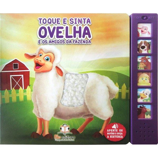 Livro Sonoro Toque e Sinta Ovelha e os Amigos da Fazenda
