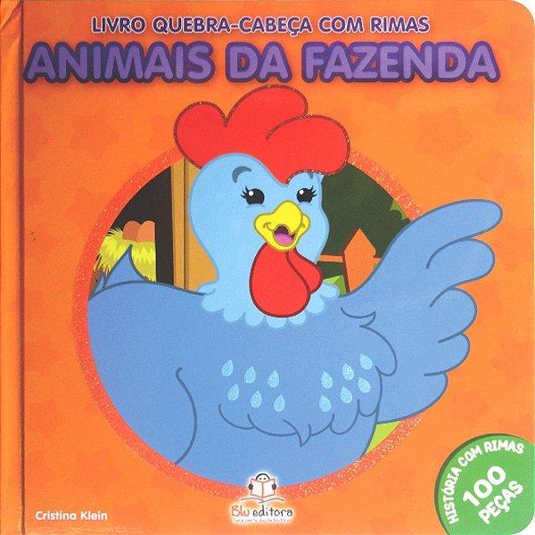 Livro Quebra-cabeça com Rimas Animais da Fazenda