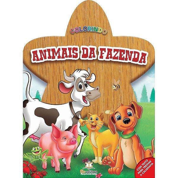 Livro Colorindo Animais da Fazenda