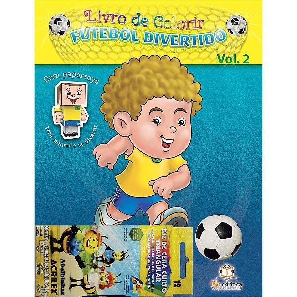 Livro de Colorir Futebol Divertido Volume 2