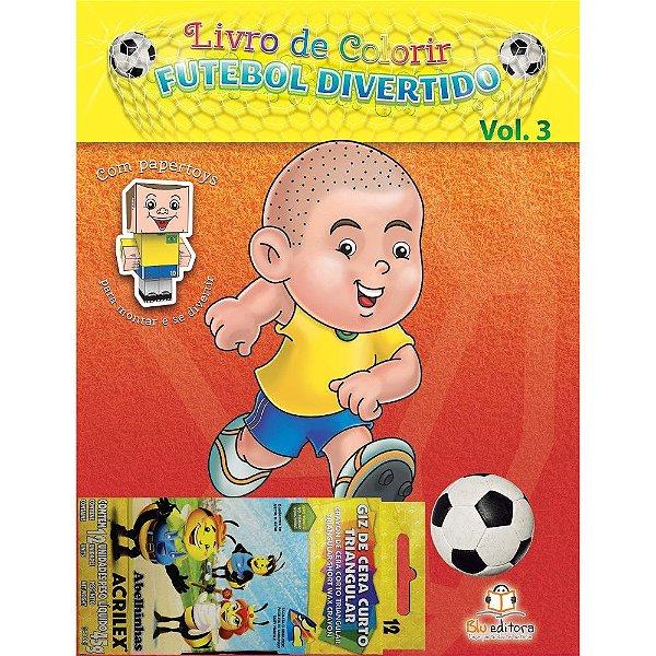 Livro de Colorir Futebol Divertido Volume 3