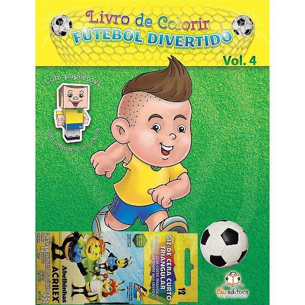 Livro de Colorir Futebol Divertido Volume 4