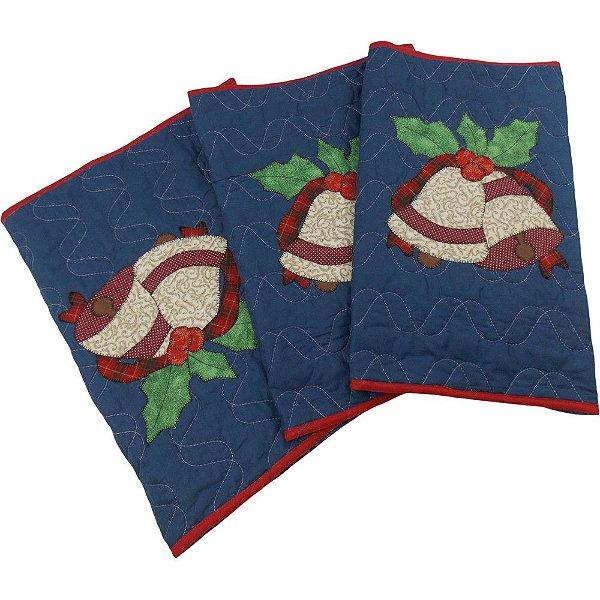 Jogo de Tapetes para Cozinha Decoração de Natal Sinos