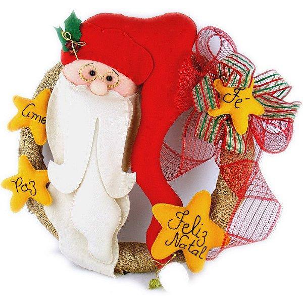 Guirlanda para Decoração de Natal Papai Noel
