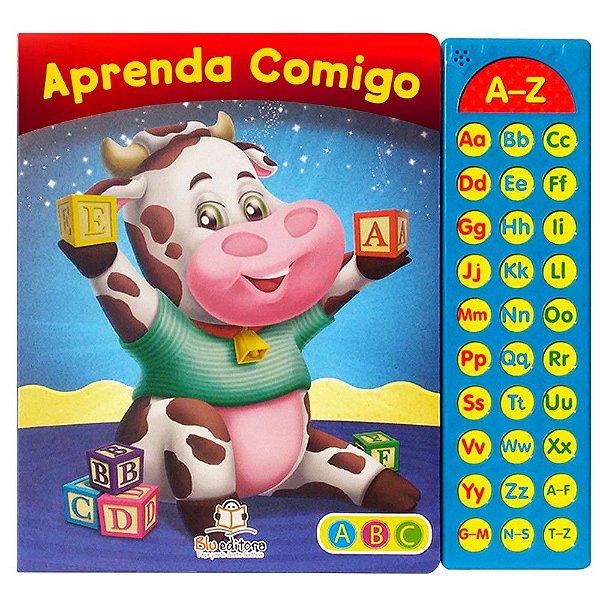 Livro Sonoro Infantil Aprenda Comigo ABC