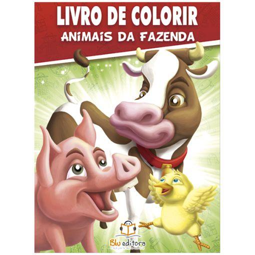 Livro de Colorir Animais da Fazenda
