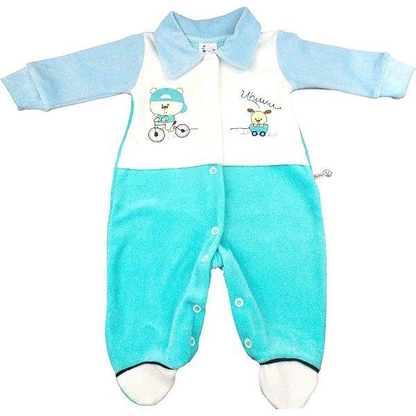 Macacão de Plush de inverno para bebê menino Blu Baby - Bebê e Arte ... 2d8978c3d58