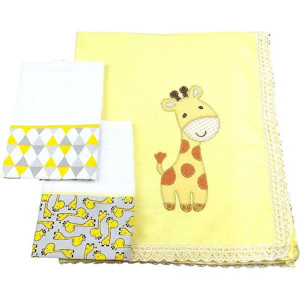 Kit Cueiro e Fraldas de Boca Modelo Girafa