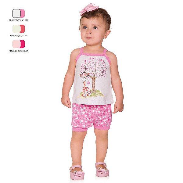 Conjunto de Bebê Curto Verão com Blusa de Alcinha e Shortinho
