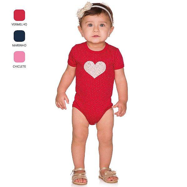Body de Bebê Curto Verão com Aplique Sortido