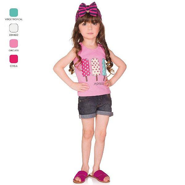 Regata Infantil Menina com Estampa Verão
