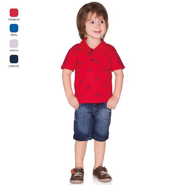 Camiseta Infantil Menino Gola Polo Verão