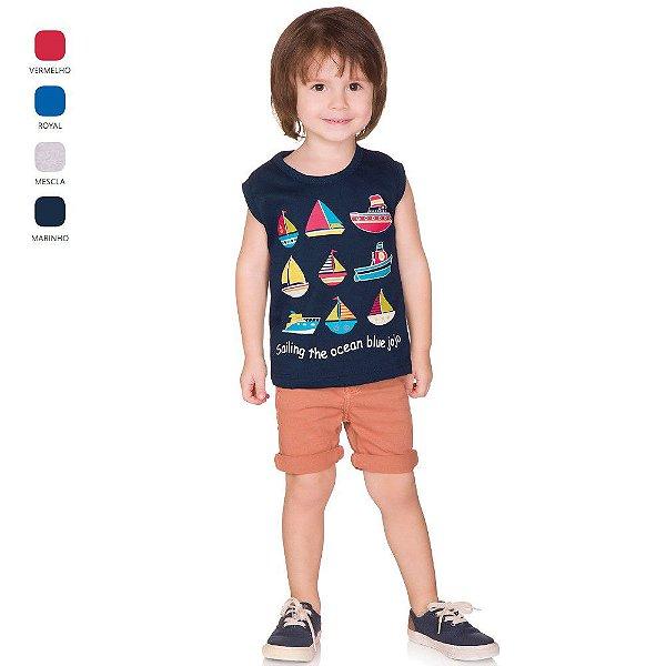Camiseta Infantil Menino Estilo Machão Verão