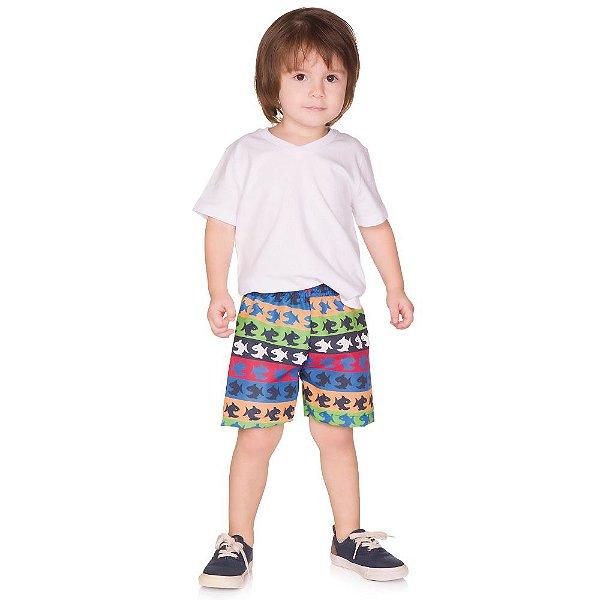 Shorts Infantil Menino Tactel Verão