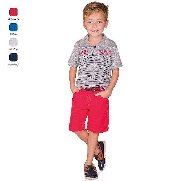 Camiseta Menino Gola Polo Verão