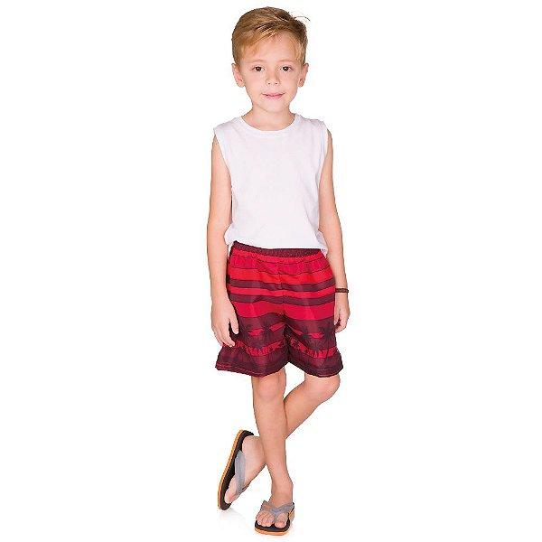 Shorts Menino Tactel Estampado Verão