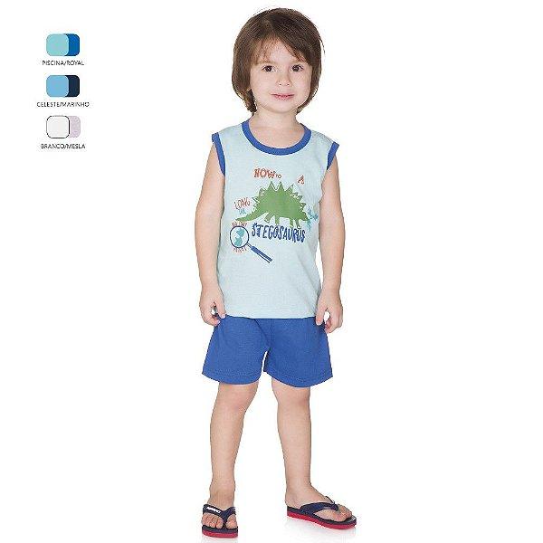 Pijama Infantil Menino Regata e Short Verão