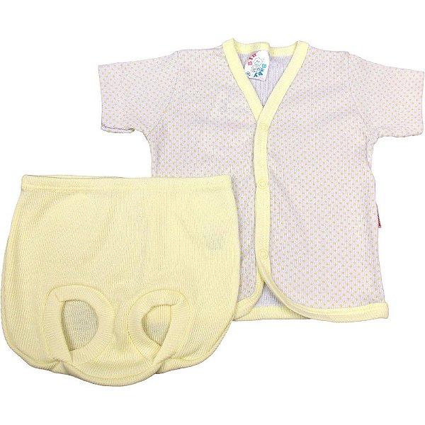 Roupa Bebê Menino Menina Unissex Pijama Curto 100% Algodão