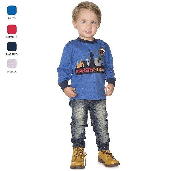 Camiseta Infantil de Menino Manga Longa
