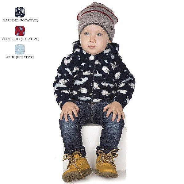 Jaqueta de Bebê Menino com Capuz de Microsoft