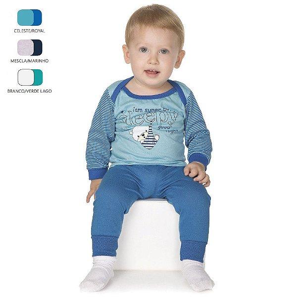 Pijama de Bebê Menino Longo de Inverno Americano