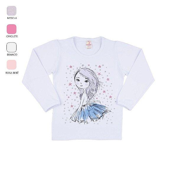 Blusa Infantil de Menina Manga Longa