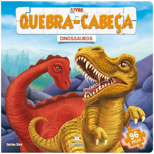 Livro Infantil Quebra-cabeça Grande: Dinossauros