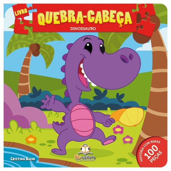 Livro Quebra-cabeça Médio: Dinossauro