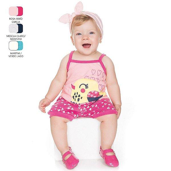Conjunto para Bebê Menina Camiseta de Alcinha (Verão)
